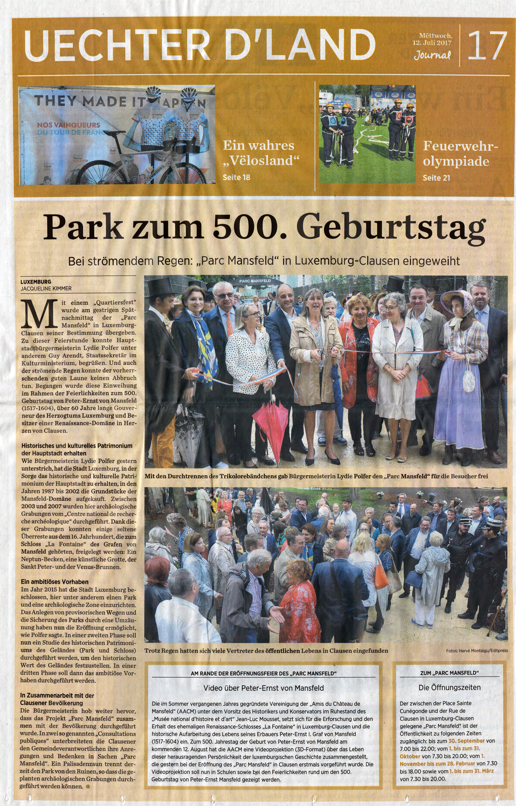 2017.07.12 Aweiung Mansfeldpark Journal